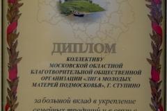 диплом Мособлдумы